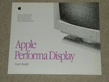 Apple (Macintosh) Performa pantalla/monitor Guía del usuario-Vintage