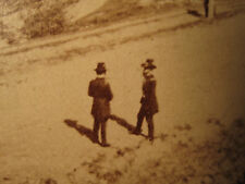 ANTIQUE CIVIL WAR GENERALS GRANT & SHERMAN NEAR WEST POINT RARE STEREOVIEW PHOTO
