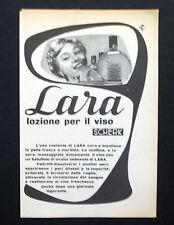 C710 - Advertising Pubblicità- 1953 - LARA SCHERK LOZIONE PER IL VISO