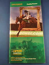 Paddy Power Gold Cup Race Card 2009 - Winner Tranquil Sea