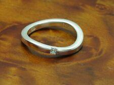 925 Sterling Argento Anello con guarnizione in vetro/in puro argento/4,4g/RG 57