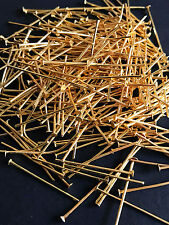 50 pcs Rose Gold Plated Metal Flat Head Pin 26mm for Jewelry Design Finding