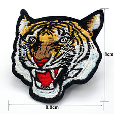 New Embroidered Applique Iron On Patch design DIY Sew Iron On Tiger Patch Badge
