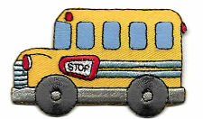 SCHOOL BUS - VEHICLE - CHILDREN - SCHOOL -Iron On Embroidered Applique Patch