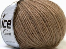 Peru Alpaca Light DK Yarn #38133 Fawn Brown Ice 50gr 191yds Alpaca, Merino Wool