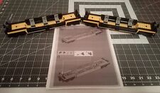 2 LEGO City Cargo Train Flat Well Cars with instuctions