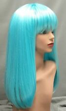 Magic Touch Long Light Blue Straight Synthetic Party Wig w/Bangs...