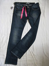 FORNARINA Damen Blue Jeans Stretch W27/L34 slim fit extra low waist bootcut leg