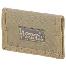 "New Authentic Maxpedition Micro Super Thin ID Wallet 4.5"" x 3"" Khaki 0218K"
