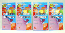 Party Genies Wall Friendly Balloon Hangers 12 Pack   Lot Of 4
