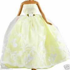 Handwork soft Princess Party Dress/Evening Clothes/Gown For Barbie Doll  1100