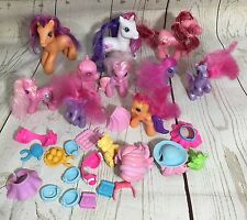 Hasbro My Little Pony Lot 10 Horses + Accessories AS-IS