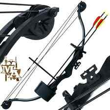 Complete Starter Kit 25lb Black Compound 'Kita' Bow - Quiver + Arrows + Guards