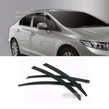 Smoke Window Sun Vent Visor Rain Guards 4P A155 For HONDA 2012-2014 2015 Civic