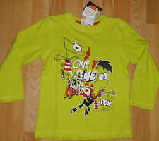 Super manga larga-shirt talla 104 + prestigio Disney Phineas and Ferb