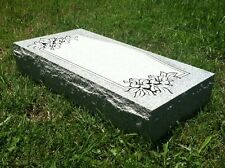 "Granite Headstone W/  Design ( L24"" x W12"" x H4"" ) 8 options"