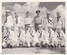 1948 8x10 Photo/USNavy Mpls Resv Div by USS Missouri WW2 Surrender Plaque/Cruise