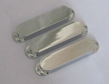 Strat No Holes Plastic Sealed Pickup Cover Closed Single Coil Covers Chrome