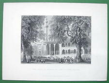 CONSTANTINOPLE Mosque of Sultana Valide - ca 1840 Original Print Engraving