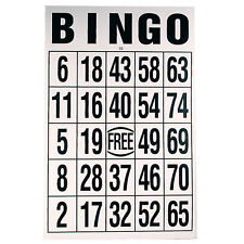 """Large Print Laminated Bingo Cards - 11"""" x 17"""" Low Vision, Spill Proof"""
