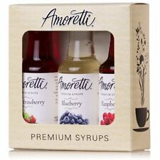 Amoretti Premium Berry Syrups 50ml 3 Pack (Wild Strawberry, Blueberry,Raspberry)