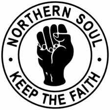 KEEP THE FAITH - NORTHERN SOUL - CAR / WINDOW STICKER   2 stickers