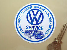 VW Car Window Service Sticker 70mm Ghia Beetle T1 T2 T3 Camper V-Dub Classic