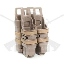 Coyote Fast Attach MOLLE System Rifle 5.56 Mag/Pistol Double Magazine Pouch Set