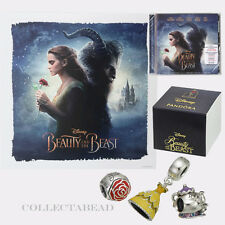 Authentic Pandora Beauty & the Beast Gift Set - includes 3 Charms,CD & Litograph