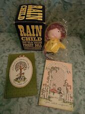 JOAN WALSH ANGLUND cloth doll 'Rain Child'  plus 2 books LC-319