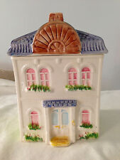 "Avon Townhouse Canister Collection Ceramic Vintage House ""Welcome"" Cookie Jar"