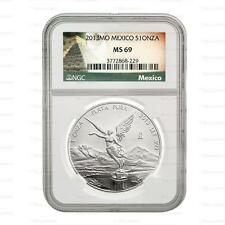 2013 Mexican Silver Libertad 1oz NGC MS69 Graded Slab Coin