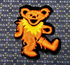 GRATEFUL DEAD DANCING BEAR ORANGE/YELLOW Iron or Sew-On Patch