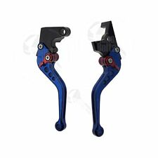 Blue CNC Shorty Brake Clutch Lever Yamaha 01 02 03 04 05 FZ1 09 10 11 12 13 XJ6