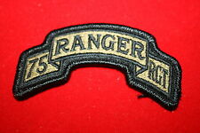 GENUINE US ARMY 75TH RANGER RCT SHOULDER TAB MULTICAM MCU CLOTH VELCRO PATCH