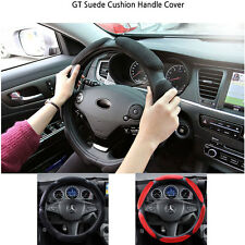 """NEW All Suede Anti-slip Sport Type Auto Car Steering Wheel Cover 38CM 15"""""""