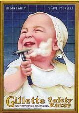 """Vintage Werbeschild """"1907 Gillette-RAZOR"""" WERBUNG, ADVERTISING, POSTER, REKLAME"""