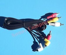 Angle Plug 3RCA M/M Stereo Audio Video DVD HDTV AV Cable Copper Core Cord 3 RCA