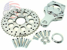 Chrome Sprotor Spockster Rear Brake Caliper Rotor Sprocket Harley Bobber Chopper