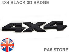 4x4 Black 3D Car Badge - Boot Body - Land Rover Toyota Jeep Mitsubishi Nissan UK