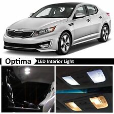 9x White LED Interior Lights Package for 2011-2014 Optima w/Sunroof