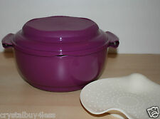 Tupperware Crystalwave Microwave Steamer Set Bowl Rhubarb  New