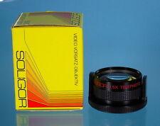 Soligor Video Vorsatz-Objektiv 37mm Weitwinkel & Tele 0.6 + 1.5x - (14335)