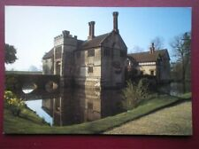 POSTCARD WARWICKSHIRE BADDESLEY CLINTON - EXTERIOR WITH THE MOAT