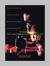 "THE UNFORGIVEN CAST X3 PP SIGNED POSTER 12X8"" EASTWOOD"
