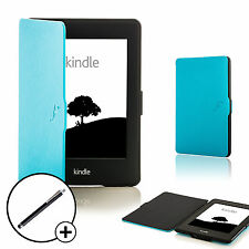 Coque bleu en cuir Smart Case Cover pour Amazon Kindle Paperwhite 2015 + Stylet