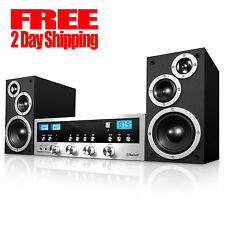 New CD Stereo System Bluetooth Home Speaker Innovative Technology MP3 FM Radio