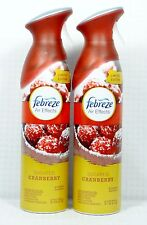 2 Cans Febreze Air Effects SUGARED CRANBERRIES Air Freshener Room Spray Winter