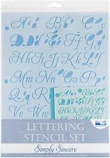 Blue Hills Studio 4-Piece Simply Sincere Lettering Stencil Sets