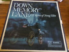 Down Memory Lane 65 Years of Song Hits - Record Set with Sleeve - Free USA Ship